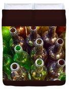 Dirty Bottles Duvet Cover by Carlos Caetano