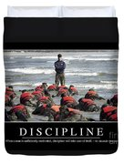 Discipline Inspirational Quote Duvet Cover by Stocktrek Images