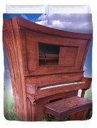 Distorted Upright Piano 2 Duvet Cover by Mike McGlothlen