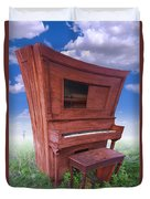 Distorted Upright Piano Duvet Cover by Mike McGlothlen