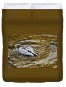 Diving Duck Duvet Cover by Kaye Menner
