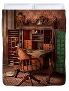 Doctor - Desk - The physician's office  Duvet Cover by Mike Savad