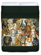 Dog Spread Duvet Cover by Ditz