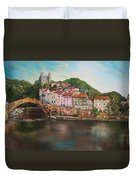 Dolceacqua Italy Duvet Cover by Jean Walker