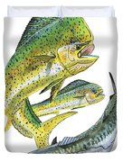 Dolphin Kingfish Duvet Cover by Carey Chen