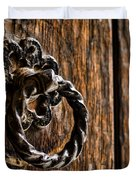 Door Knocker Duvet Cover by Heather Applegate