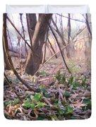 Down Here - Digital Painting Effect Duvet Cover by Rhonda Barrett