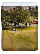 Down on the farm Duvet Cover by Bill  Wakeley