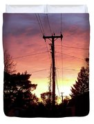 Down The Alley Sunrise Duvet Cover by Thomas Woolworth