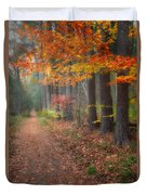 Down The Trail Duvet Cover by Bill Wakeley
