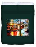 Downpour On Bourbon Street Duvet Cover by Diane Millsap