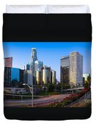 Downtown L.a. Duvet Cover by Inge Johnsson