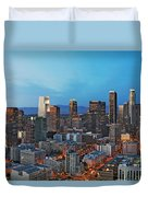 Downtown Los Angeles Duvet Cover by Kelley King