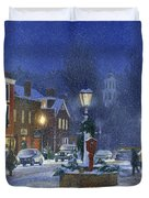 Downtown Woodstock Duvet Cover by Candace Lovely