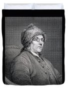 Dr Benjamin Franklin Duvet Cover by English School