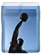 Dr. J. Duvet Cover by Bill Cannon