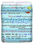 Dr Seuss - Quotes To Change Your Life Duvet Cover by Georgia Fowler