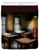 Draftsman - The Drafting Room Duvet Cover by Mike Savad
