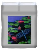 Dragon Fly - Botanical Duvet Cover by Grace Liberator