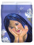 Dragonfly Dreamer Duvet Cover by Jane Small