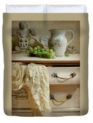 Drawer Of Lace Duvet Cover by Diana Angstadt