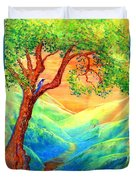 Dreaming Of Bluebells Duvet Cover by Jane Small