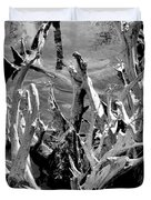 Driftwood on Lost Lake Duvet Cover by Michelle Calkins