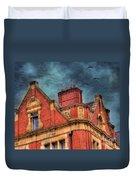 Dublin House Roof Top Duvet Cover by Juli Scalzi