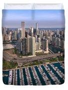 Dusable Harbor Chicago Duvet Cover by Steve Gadomski