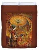 Dynamic Oriental Duvet Cover by Ricardo Chavez-Mendez