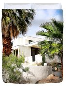 E. Stewart Williams Home Palm Springs Duvet Cover by William Dey