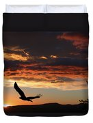 Eagle at Sunset Duvet Cover by Shane Bechler