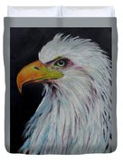Eagle Eye Duvet Cover by Jeanne Fischer