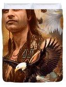 Eagle Montage Duvet Cover by Garry Walton