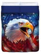 Eagle Red White Blue 2 Duvet Cover by Carol Cavalaris