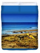 Early Morning On The Beach Duvet Cover by Marco Oliveira