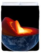 Earth core structure - isolated Duvet Cover by Johan Swanepoel