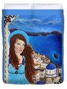 Earthangel Athena Duvet Cover by The Art With A Heart By Charlotte Phillips