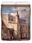 East Bergholt Church, Northside Duvet Cover by John Constable