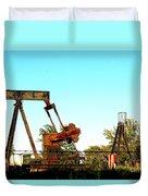 East Texas Oil Field Duvet Cover by Kathy  White