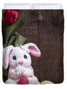 Easter Bunny Duvet Cover by Edward Fielding