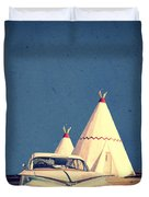 Eat And Sleep In A Wigwam Duvet Cover by Edward Fielding