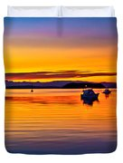 Echo Bay Sunset Duvet Cover by Robert Bales