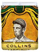 Eddie Collins Philadelphia Athletics Baseball Card 1025 Duvet Cover by Wingsdomain Art and Photography
