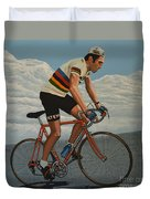 Eddy Merckx Duvet Cover by Paul Meijering