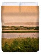 Edgartown Lighthouse Duvet Cover by Bill  Wakeley