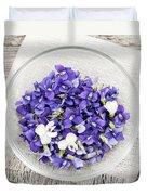 Edible Violets  Duvet Cover by Elena Elisseeva