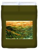 El Yunque Rainforest Duvet Cover by Zaira Dzhaubaeva