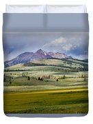 Electric Peak Duvet Cover by Bill Gallagher