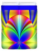 Electric Rainbow Orb Fractal Duvet Cover by Rose Santuci-Sofranko